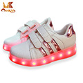 Monkids Children Glowing Sneakers Shine Sneakers Leisure Boys Girls Shoes Band Stripe Lamp Kids Shoes Kids Light Up Shoes