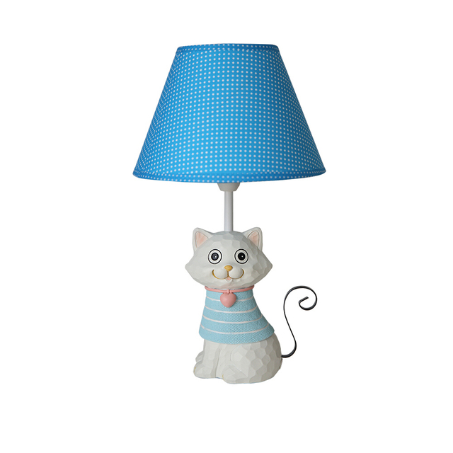 Lovely Cat Kids Desk Lamp E14 AC 110V-220V Children Room Led Table Lamps Reading Lamp Led Switch Button Bedside Lamp