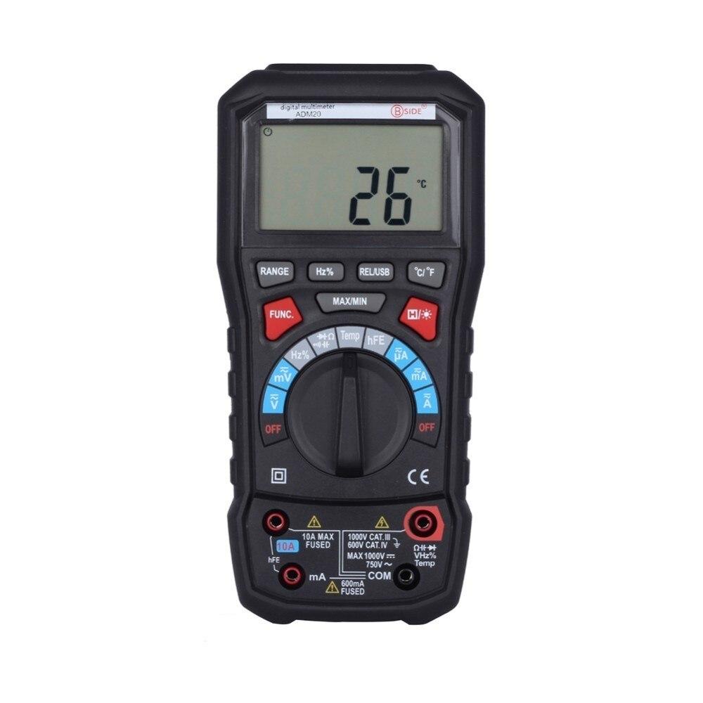Affichage multimètre numérique 6000 comptes écran LCD rétro-éclairage automatique et manuel avec Interface USB PK UT61E UT139C