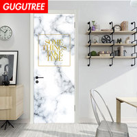 Decorate Home some things take time marble wall sticker decoration Decals mural painting Removable Decor Wallpaper LF 731