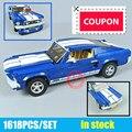 New Technic GT500 1967 Creator Expert Ford Mustang fit legoings technic 10265 Building Blocks Bricks 21047 DIY Toy Birthday Gift