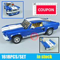 New Technic GT500 1967 Creator Expert Ford Mustang fit legoings technic 10265 Building Blocks Bricks 21047 DIY Toy Birthday Gift