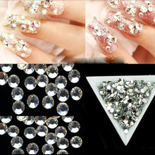 4mm Nail Art Crystal Clear Rhinestones 1000pcs/pack Glitter Flatback 3D Acrylic Nail Decoration Bling Studs Manicure Tool