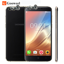 DOOGEE X30 Dual Rear Camera Mobile Phone 5.5 Inch HD MTK6580 Quad Core Android 7.0 2GB RAM 16GB ROM Dual SIM Card 3G Cell phone(China)