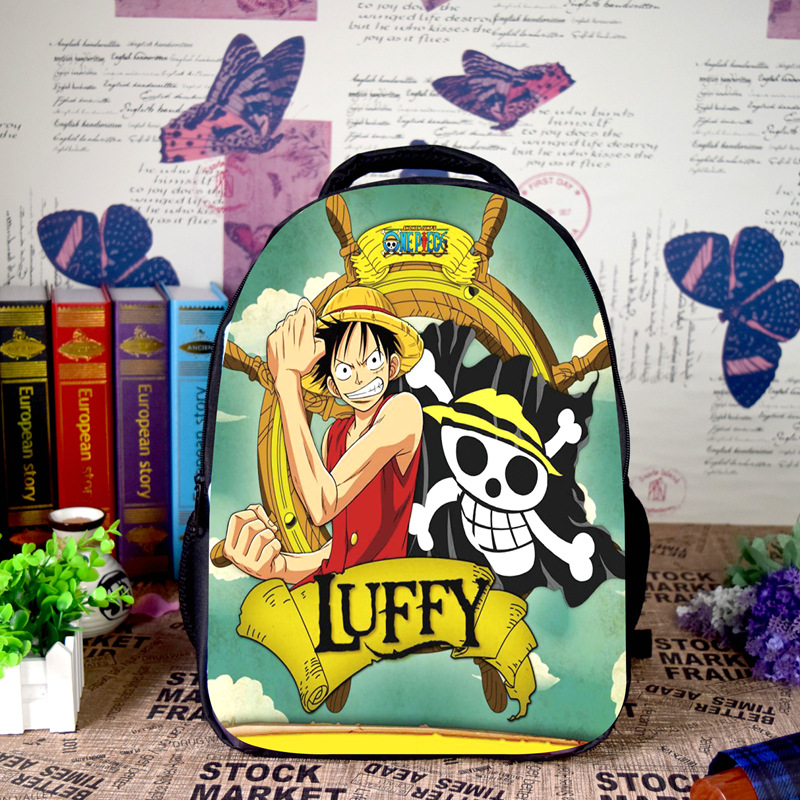 Anime One Piece Cosplay Monkey D. Luffy Cos Cartoon student campus male and female backpack child birthday gift гусева е леонов в философия и история науки учебник