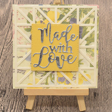 Made With Love Letter Metal Cutting Dies Words for Scrapbooking Album Card Making Paper Embossing Die Cuts