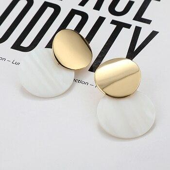 Boucles d'oreilles pour femmes en forme de goutte en métal  3