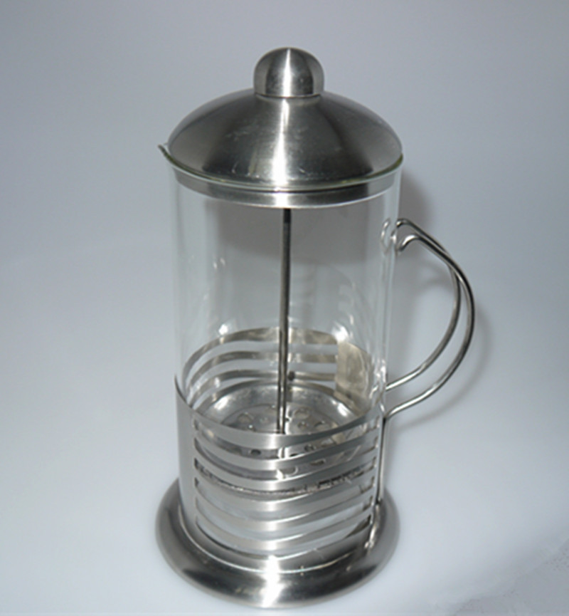 Coffee Maker With Metal Filter : 1000ml Stainless Steel Glass Cafetiere French press Filter Coffee Press Plunger coffee maker ...