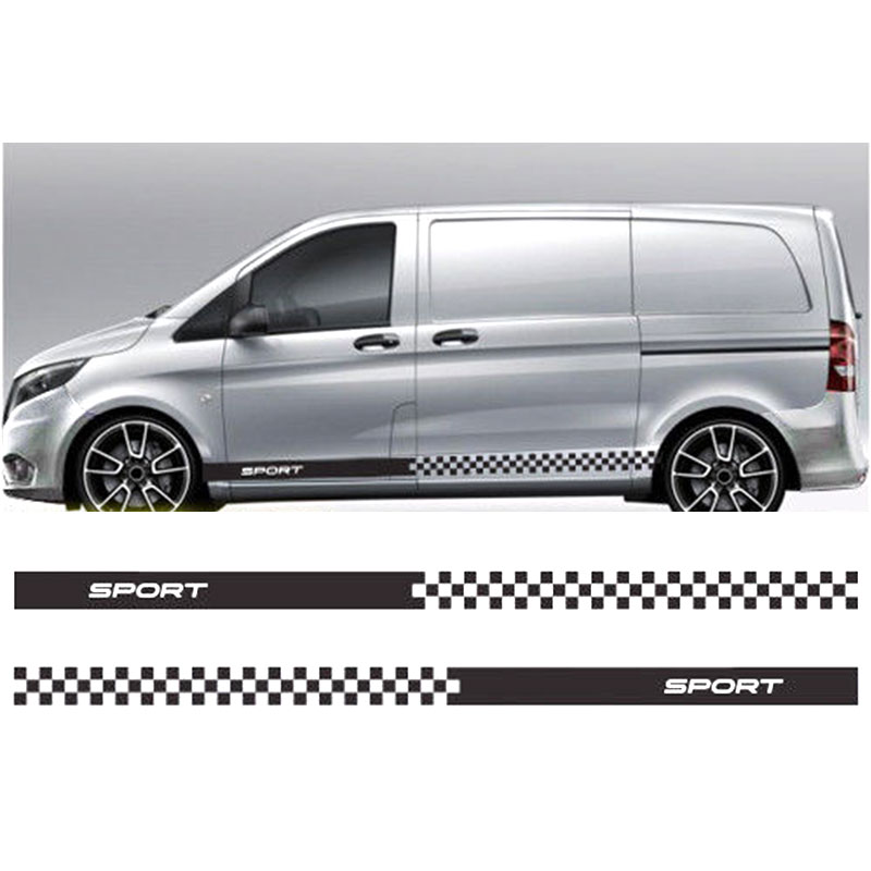 0002 for Mercedes Vito racing stripes decals vinyl graphics sport van design vinyl Sticker mating mind