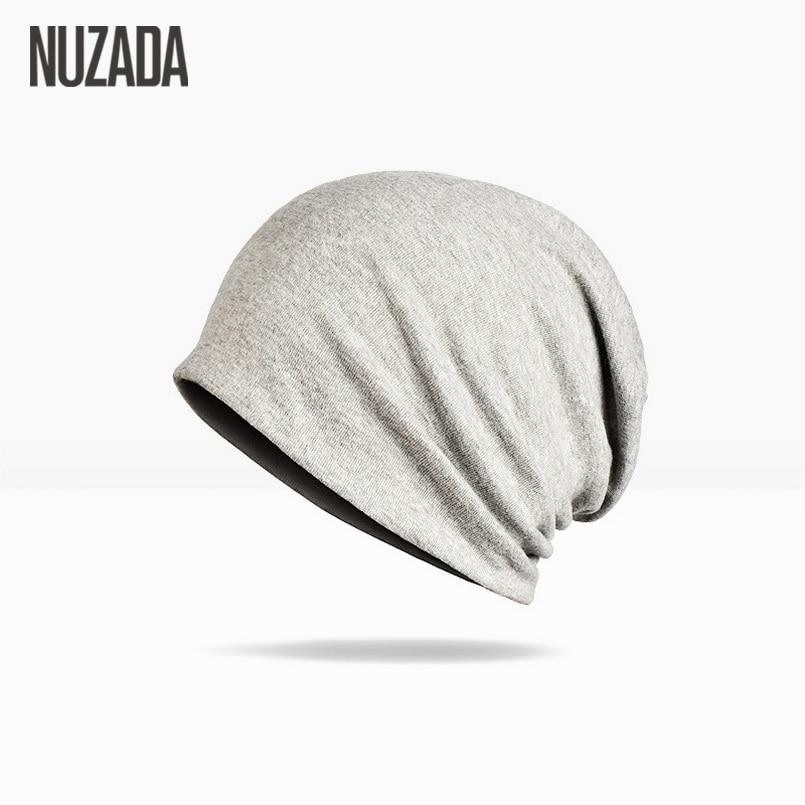 Mærke NUZADA Solid Farve Unisex Mænd Kvinder Skullies Beanies - Beklædningstilbehør - Foto 3