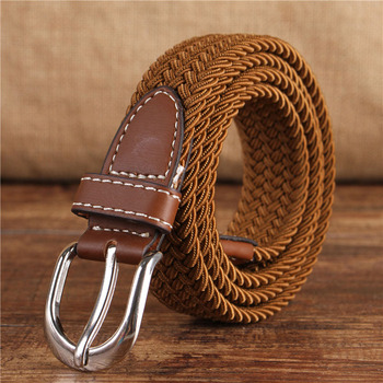 24color stripe elastic waist men's braided belt unisex 2019 casual belts with student belt wide cinturon elastico mujer U016