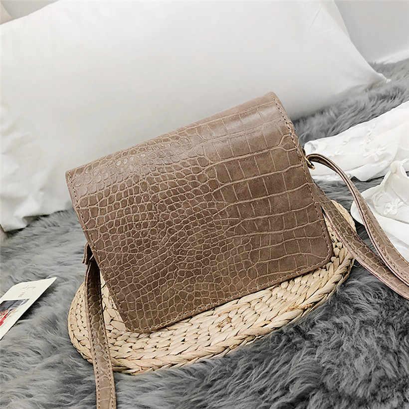 352a78431b3a ... 2019 Spring Fashion Women Shoulder Bag Leather Strap Flap Designer  Handbags Clutch Bag Ladies Messenger Bags