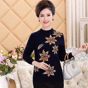 M-4XL свитер женский осенний джемпер с длинными рукавами трикотаж плюс размер невысокая горловина свитера для женщин - Цвет: Черный