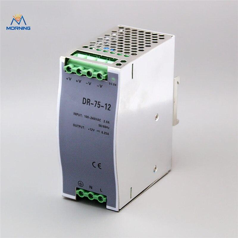 цены на DR-75-24 24vdc No-waterproof constant 75watt switching power supply 75W 24Volt aluminum shell в интернет-магазинах