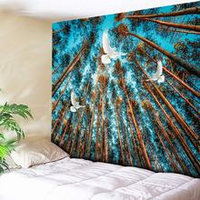 Forest Tapestry Galaxy Wall Hanging Large Boho Tree Wall Tapestry Cheap Hippie Tapestries Wall Art Decor Blanket Blue Wall Cloth wall hanging art decor sunshine tree print tapestry