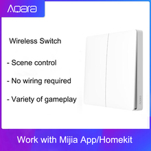 Aqara interrupteur mural intelligent, wi fi, 2.4GHz, Double clé, Original, contrôle à distance avec application Mi Home