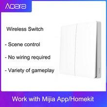 オリジナルaqara壁スイッチスマート調光スマートスイッチ無線lan 2.4 ghzワイヤレス二重鍵によるリモートコントロールmiホームアプリ
