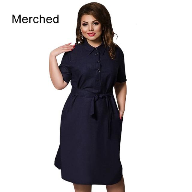 c79e0a8ecb9 Merched Vintage Buttons Denim Dress Women Autumn Shirt Dress Vestidos  Casual Straight Belt Midi Dresses 4XL 5XL 6XL Plus Size