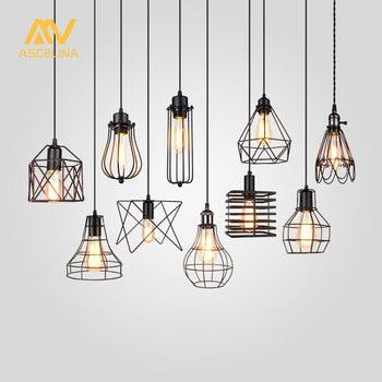 ASCELINA Lampenschirm Anhänger Licht Lampe schatten Loft DIY Metall Käfig Birne Schutz Clamp Schmiedeeisen Wand lampe Hause Dekoration beleuchtung