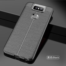 Wolfsay Soft TPU Case For Asus Zenfone 6 ZS630KL Leather Texture Silicone Phone Cover 6z Business Coque