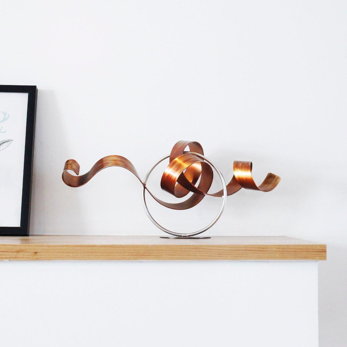 Modieuze Ijzer Wriggle Moderne Sculptuur Abstracte Sculptuur Kunstwerk Metalen Sculptuur Ijzer Woondecoratie Indoor Outdoor Decor-in Beelden & Sculpturen van Huis & Tuin op  Groep 1
