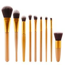 Prol 9 Pcs Soft MakeUp Brushes Set Foundation Blusher Powder Eyeshadow Blending Eyebrow Brushes Beauty Tools Kit