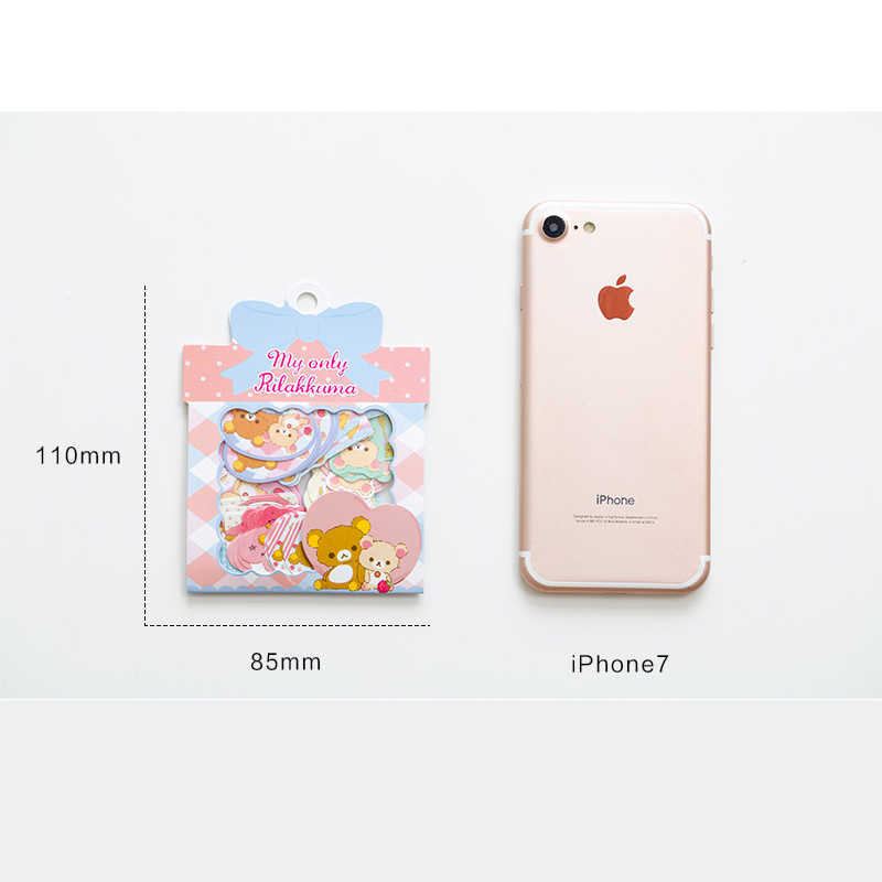 60 pcs/pack Kawaii Rilakkuma Stickers Mini Scrapbook Stickers Paper for Diary Album DIY Decoration Japanese Stationery 2019 New