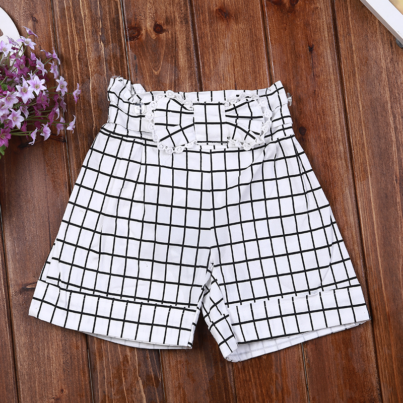 Summer Girls Short Pants For Kids Safety Cotton Denim Overall Toddler Clothing White 2t 3t 4t 5