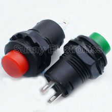10pcs Red and Green 12MM Self Return Momentary Push Button Switch(China (Mainland))