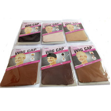 60PCS(30bags) Wig Caps For Making Wigs Stocking Wig Cap Snood Nylon Stretch Mesh In 7 Colors Weaving Cap