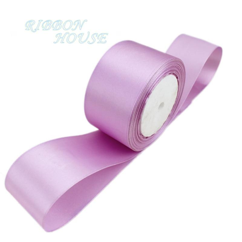(25 ярдов/рулон) 2 »50 мм розового и фиолетового цветов одного лица атласная лента лямки подарок на Рождество лентами