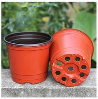 50 pz forniture di Piante giardinaggio vaso di fiori di plastica a due colori vaso di calibro bacino vaso di fiori di ceramica fiore pot100 * 85*95mm