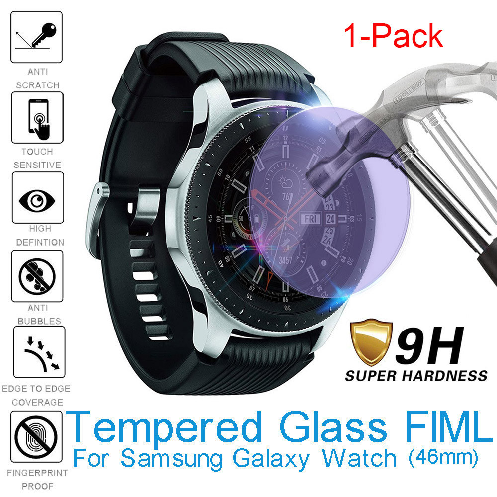 1 Pcs Anti Blue light Tempered Glass Screen Protector Full Cover Film For Samsung Galaxy Watch 46mm Explosion proof Protect Film(China)