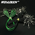 WDAIREN 20Pcs/lot Fishing Wire Line Leash Lure Fishhook Line Trace Wire Leader Swivel Snap Spinner Shark Spinning Expert tackle