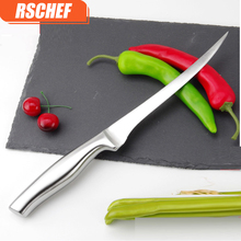 RSCHEF 7 inch Quality Stainless Steel Kitchen Fillet Knife Eviscerate Fish Sculpture Knife Japanese Style Boning