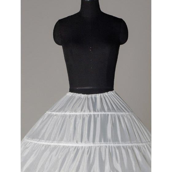 2017 In Lizenz Günstige Weiß Ballkleid 6 Hoops Petticoats Hochzeit ...