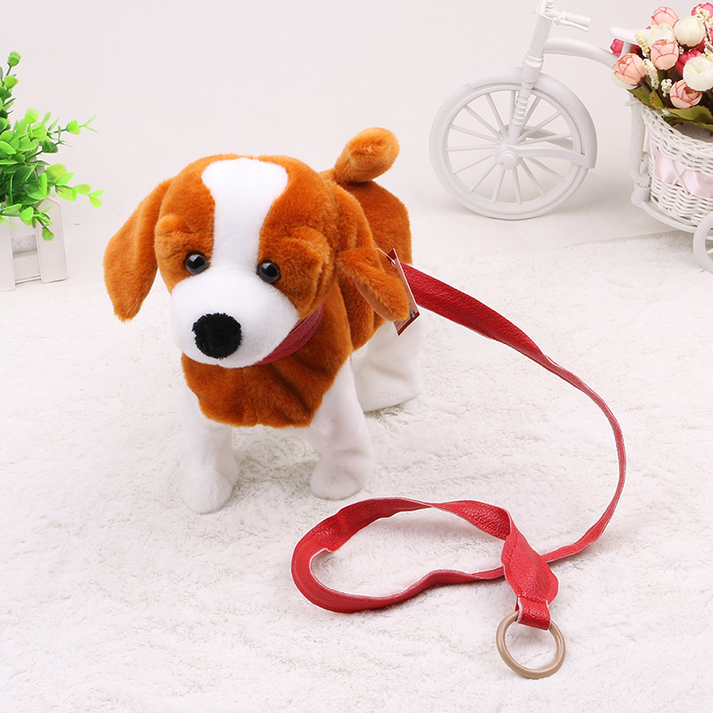 купить Robot Dog Electronic Dog remote control plush Toy with Leash Music machinery electronic toys For Children недорого