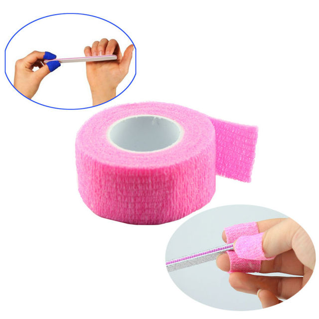 120pcs Finger File Bandage Strip Protection Flex Wrap Color Rolls Manicure Tool Nail Drill Accessory Wholesale SKU:XF0058