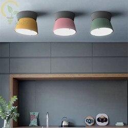 Nordic światła restauracja salon lampa sufitowa LED minimalizm Bar sypialnia badania dekoracji nowoczesne lampy sufitowe w Oświetlenie sufitowe od Lampy i oświetlenie na