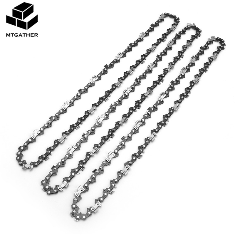 MTGATHER 3x Chainsaw Semi Chisel Chains 3/8LP 0.05 For