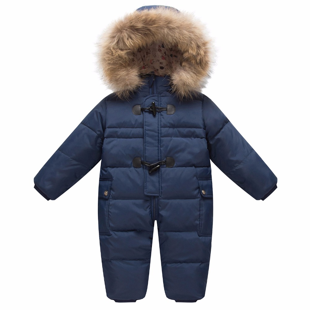 Toddler Baby Boy Girls Winter Romper Jacket Hooded Jumpsuit Thick Coat Outfit AU