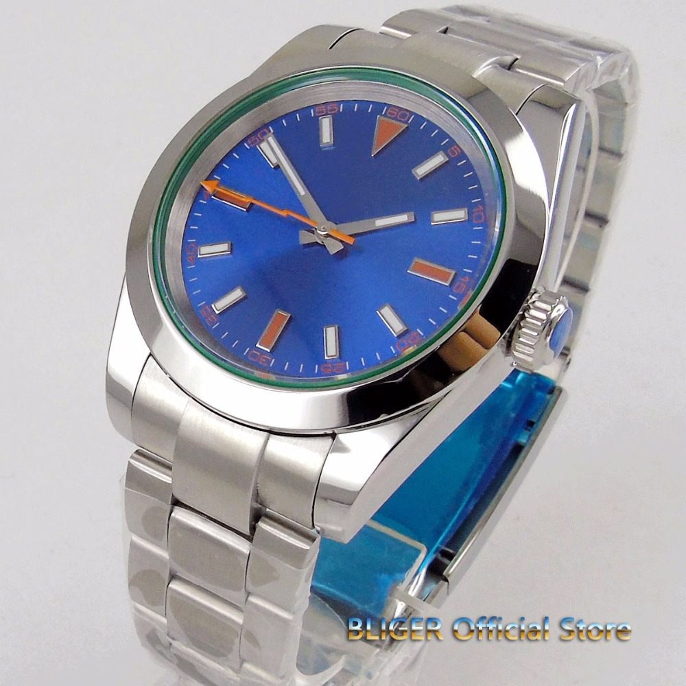 40mm big blue dial sapphire glass time watch minous hand polished bezel 21 jewels MIYOTA 8215 Automatic movement mens watch men40mm big blue dial sapphire glass time watch minous hand polished bezel 21 jewels MIYOTA 8215 Automatic movement mens watch men