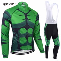 BXIO Winter Thermal Fleece Bike Jersey Seamless Stitching Long Sleeve Bicycle Clothing 5D Pad Cycling Jerseys Ropa Ciclismo 141