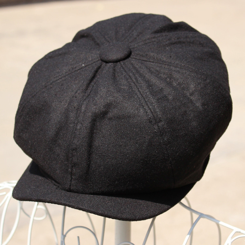 Unisex Lady Men Black Applejack Cabbie Golf Driving Ivy Hat Hats Cap Newsboy Caps
