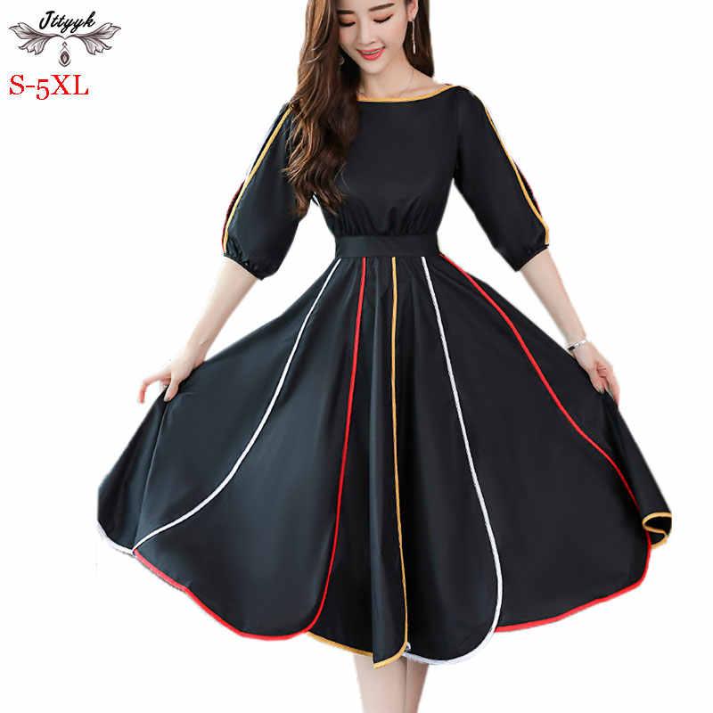 9b8de93fdb7 2019 Plus size S-5XL Summer Dress Women Chiffon Dress Short Sleeve O-Neck