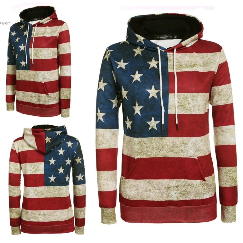 Compare Prices on Stars and Stripes Hoodie- Online Shopping/Buy ...