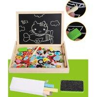 DIY zabawy dzieci drewniane puzzle układanki magnetyczne pole zarządu sztuk gry cartoon rysunek dziecka zabawki edukacyjne dla dziewczyn chłopcy dziewczyna