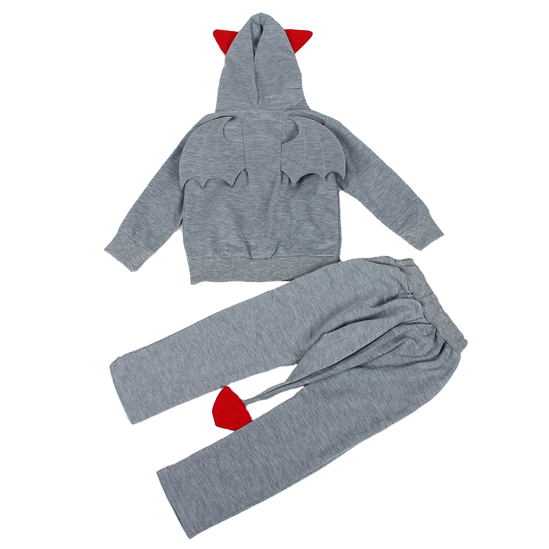 2018 New Spring baby boys clothes Casual Long Sleeve sport suit children sets Halloween giftsCartoon little devil clothing sets