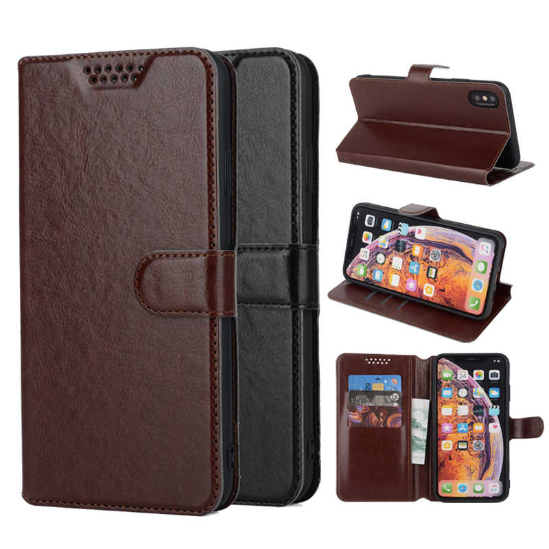 Leather Soft Case voor Wileyfox Swift 2X2 Plus Spark Plus Gevallen voor Wileyfox Spark X Plus Swift Flip stander Wallet Case Cover
