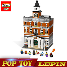 New Lepin 15003 Creators series the town hall model Building Blocks set compatible legoed 10224 classic house Architecture toy